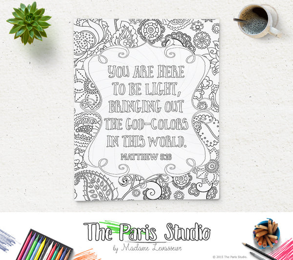 Printable Coloring Page Multi-Pack: Most Popular 5 Bible Verses