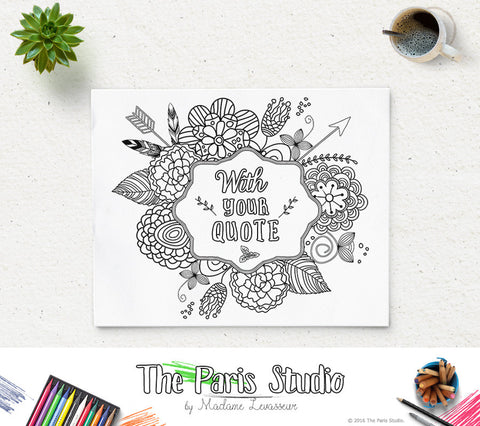 Custom Design Coloring Page Bible Verse Printable Coloring Page Quote