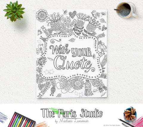 Custom Coloring Page Bible Verse Printable Coloring Page Quote