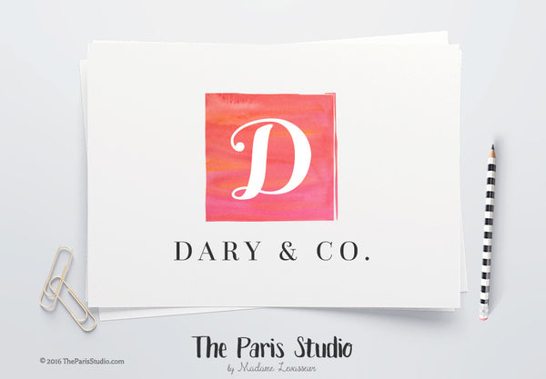 DIY Instant Download Logo PSD Monogram Logo Template