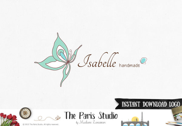 Instant Download Logo PSD Template Butterfly Logo