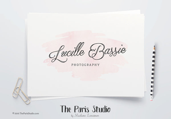 Instant Download Logo Photoshop Logo Watercolor Photography Logo