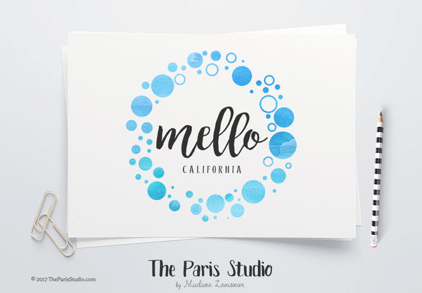DIY Instant Download Watercolor Circle Photoshop Logo