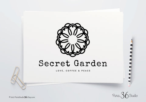 DIY Instant Download Logo PSD Mandala Logo Design