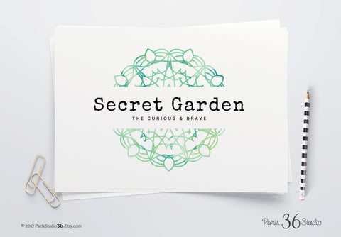 DIY Instant Download Logo PSD Watercolor Mandala Logo Design