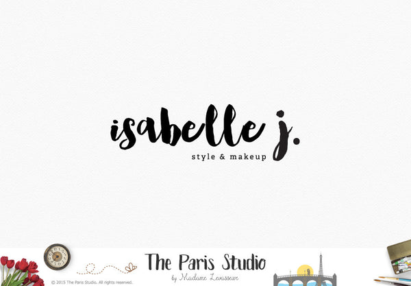Typographic Watercolor Brush Font Logo Design