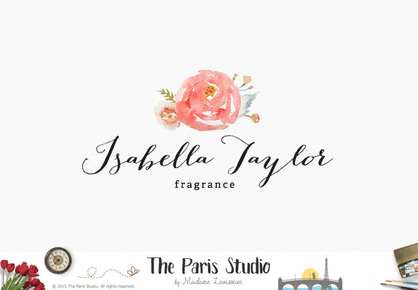 Floral Watercolor Logo Design