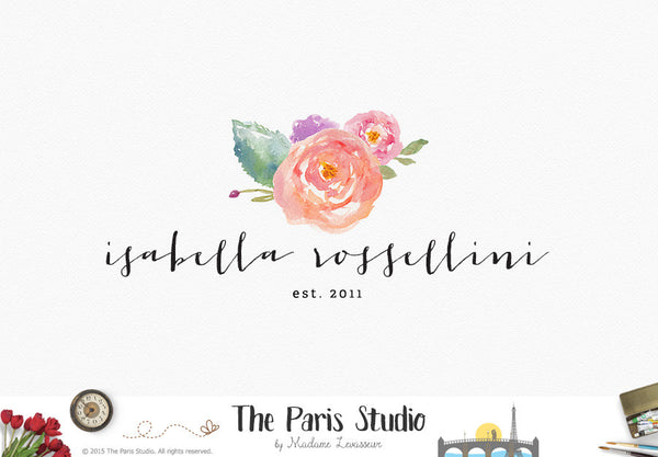 Watercolor Flower Logo Design