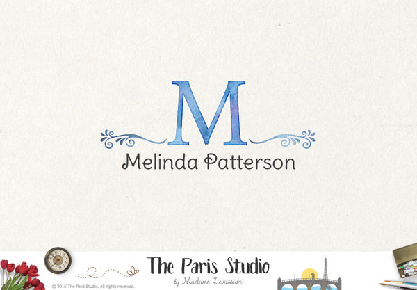Vintage Decorative Monogram Logo Design