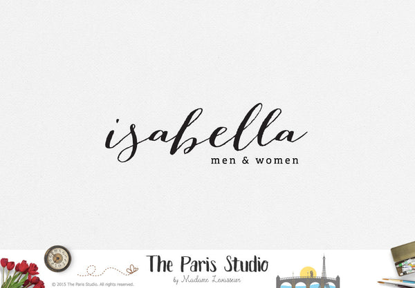 Typographic Hand Writing Logo Design