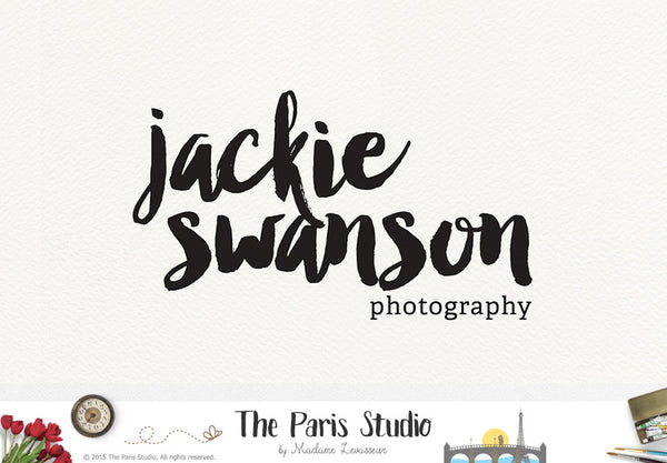 Typographic Ink Brush Logo Design