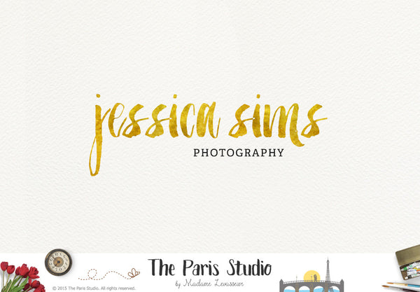 Typographic Silver & Gold Brush Logo Design