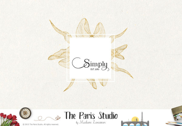 Decorative Frame Vintage Floral Logo Design