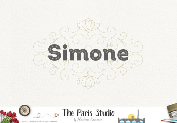 Vintage Decorative Frame Logo Design