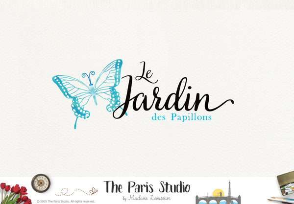 Butterfly Watercolor Logo Design