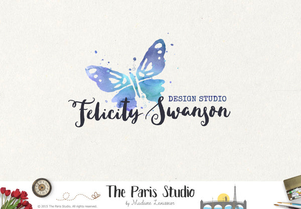 Watercolor Butterfly Logo Design - Creative Professional Branding