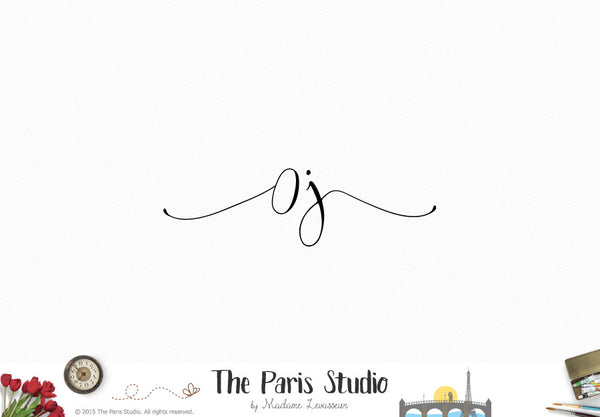 Hand Writing Monogram Logo Design