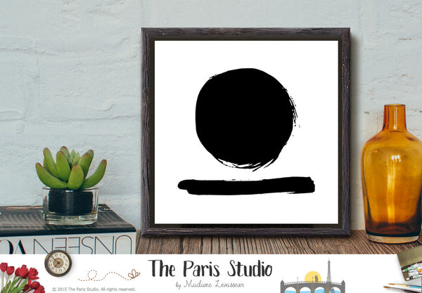 Instant Download Minimalist Digital Art Circle