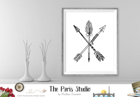 Instant Download Digital Art 3 Tribal Arrows