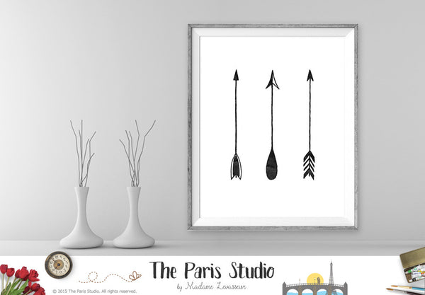 Instant Download Digital Art Print 3 Upward Tribal Arrows