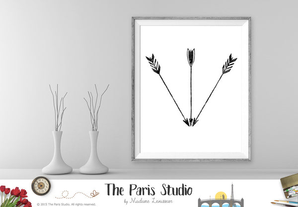 Instant Download Digital Art Print 3 Tribal Arrows