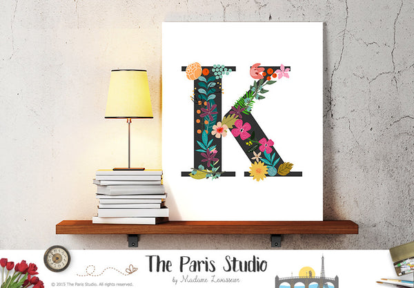 Custom Floral Alphabet Design - Floral Monogram