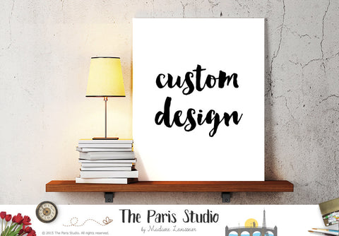 How to Order - Custom Design Digital Art Print