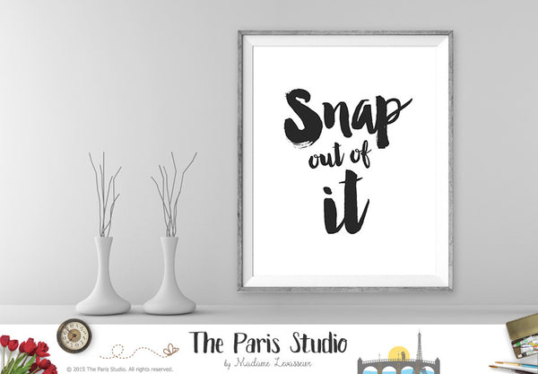 Printable Art: Snap out of it Black & White Moonstruck Movie Quote