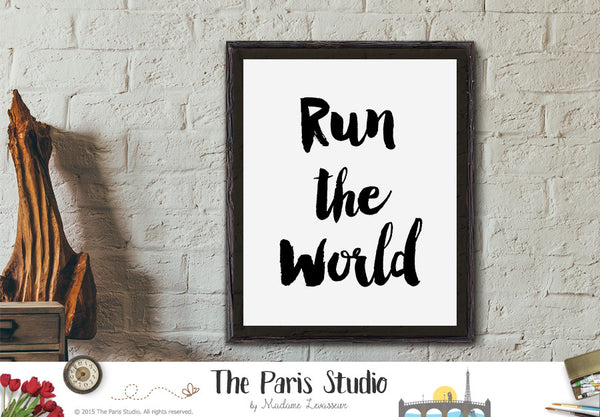 Printable Art: Girls Run The World Lyrics Art