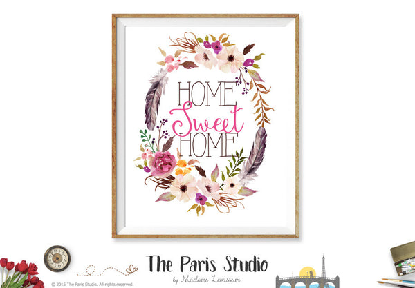 Printable Digital Art Print: Home Sweet Home