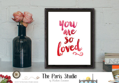 Custom Watercolor Typographic Art Print - Custom Quote Design