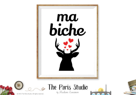 Printable Digital Art Print: Ma Biche