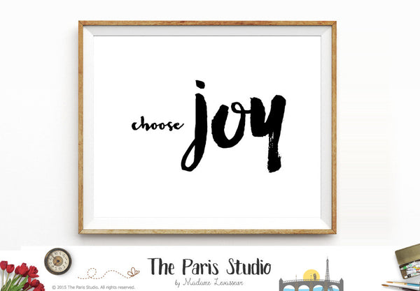 Printable Art Instant Download Printable Quote Choose Joy