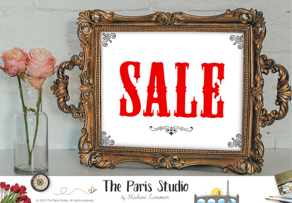 SALE sign printable business signage instant download