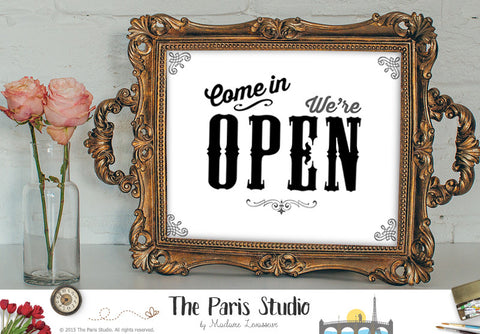 Come in we are OPEN sign printable business sign instant download