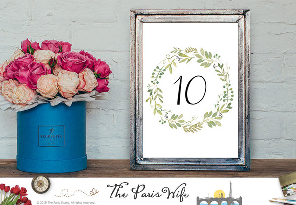 How to Order - Floral Wreath Wedding Table Number Custom Design