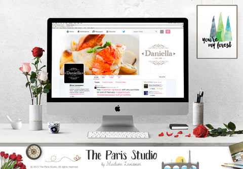 Wordpress Website Header Design, Facebook Cover Design, Twitter Cover Design, Etsy Shop Cover