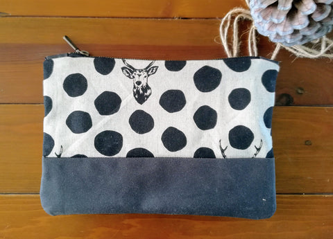 Clutch bag black stag