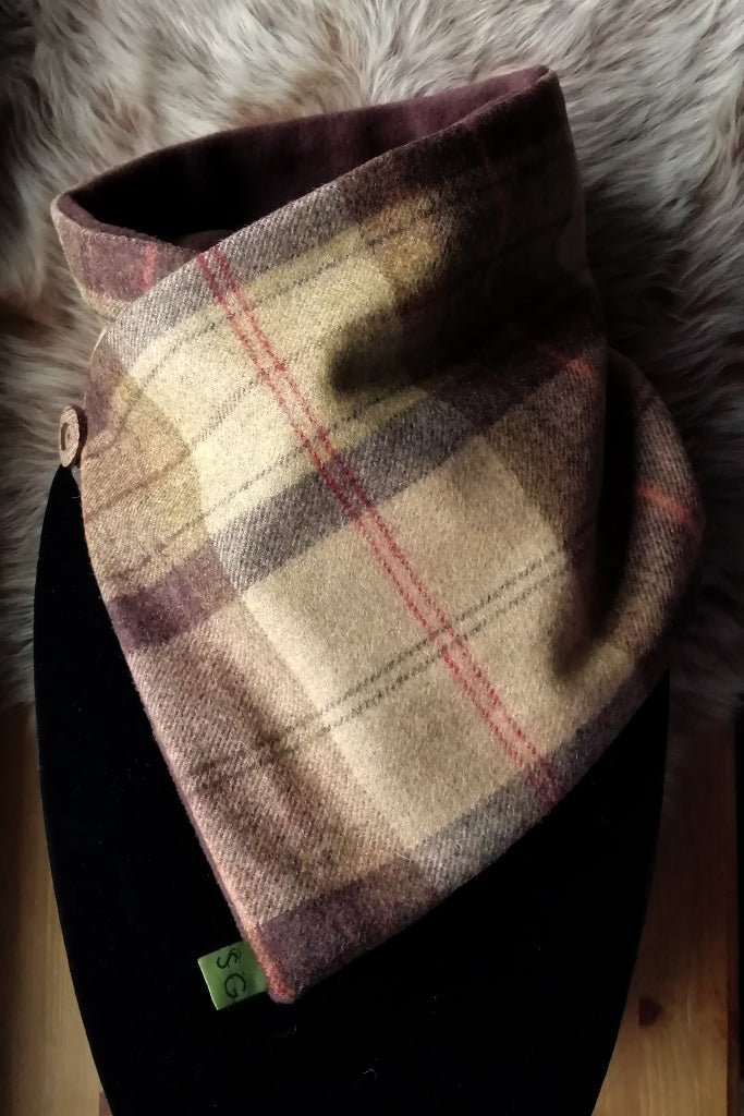 Classic Tweed Snood -Toffee Apple
