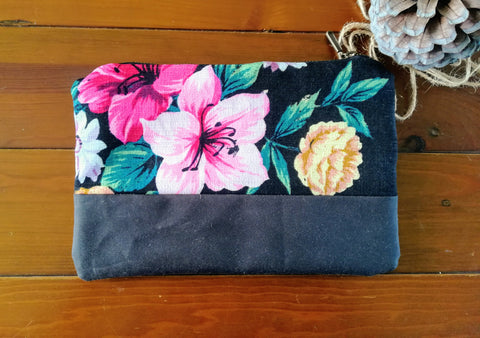 Clutch Bag Black Floral