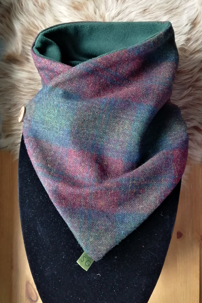 Classic Tweed Snood - Jewel Check