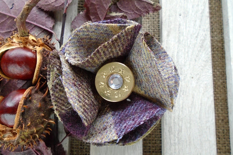 Sporting Tweed Brooch - Blackberry Crumble