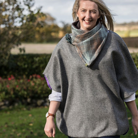 Ainderby Oversized Tweed Top - Dove Grey