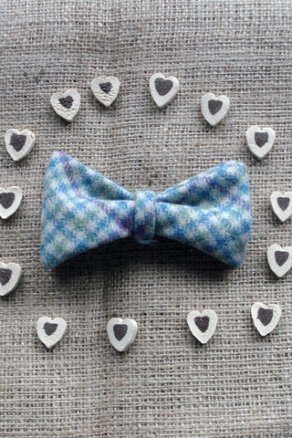 Doggy Bows- Green Houndstooth