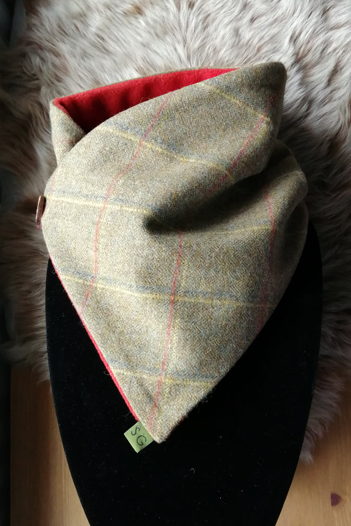 Classic Tweed Snood - Pumpkin