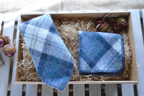 Blueberry Tweed Tie Gift Box