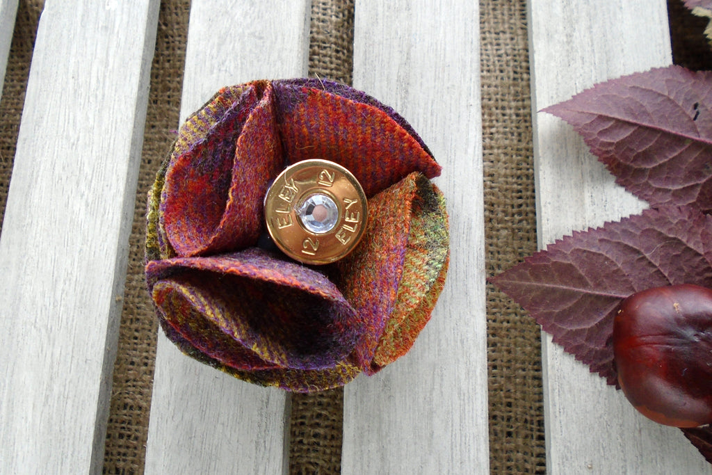 Sporting Tweed Brooch - FruitSalad