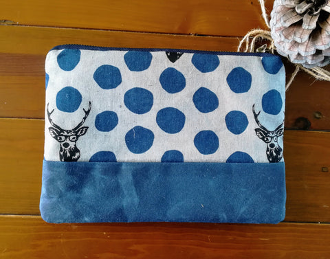 Clutch Bag Navy Stag