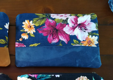 Clutch Bag Navy Floral