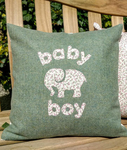 Baby Boy Cushion- Elephant